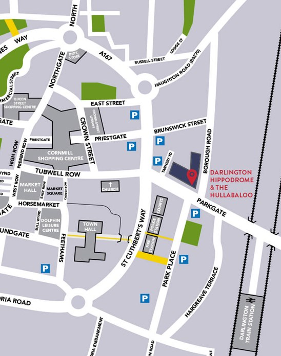 map to town centre car parks