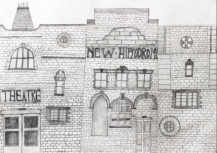 Drawing of the Hippodrome, created by Jennifer Smith