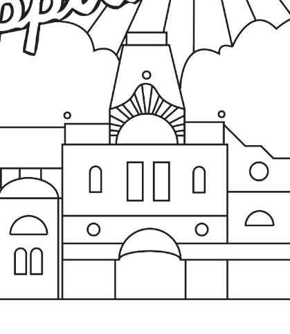 Hippodrome at Home - Colouring page
