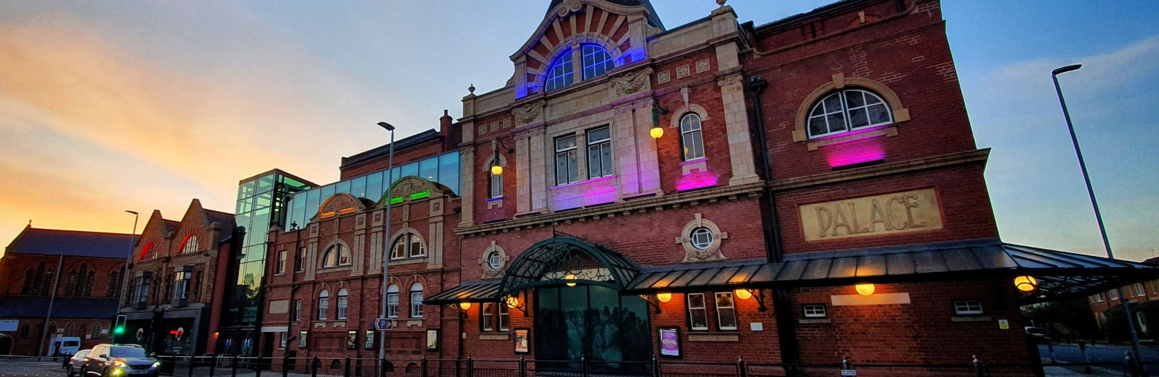 Darlington Hippodrome lit up for Pride Month